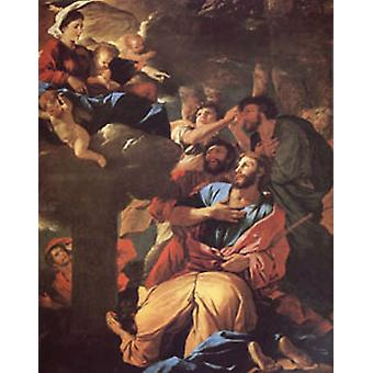 The VIrgin of the Pillar Appearing, Nicolas Poussin