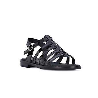 Frau Black patent leather sandals