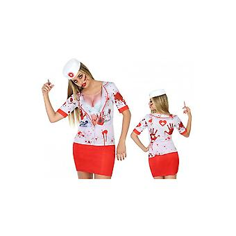 Women costumes  T-shirt zombie nurse