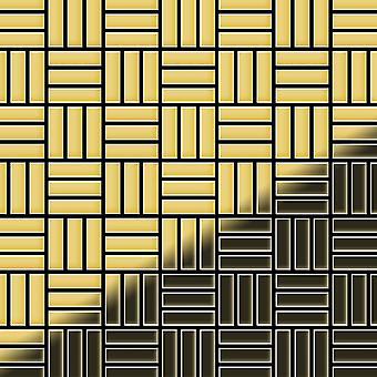 Metal mosaic Brass ALLOY Basketweave-BM
