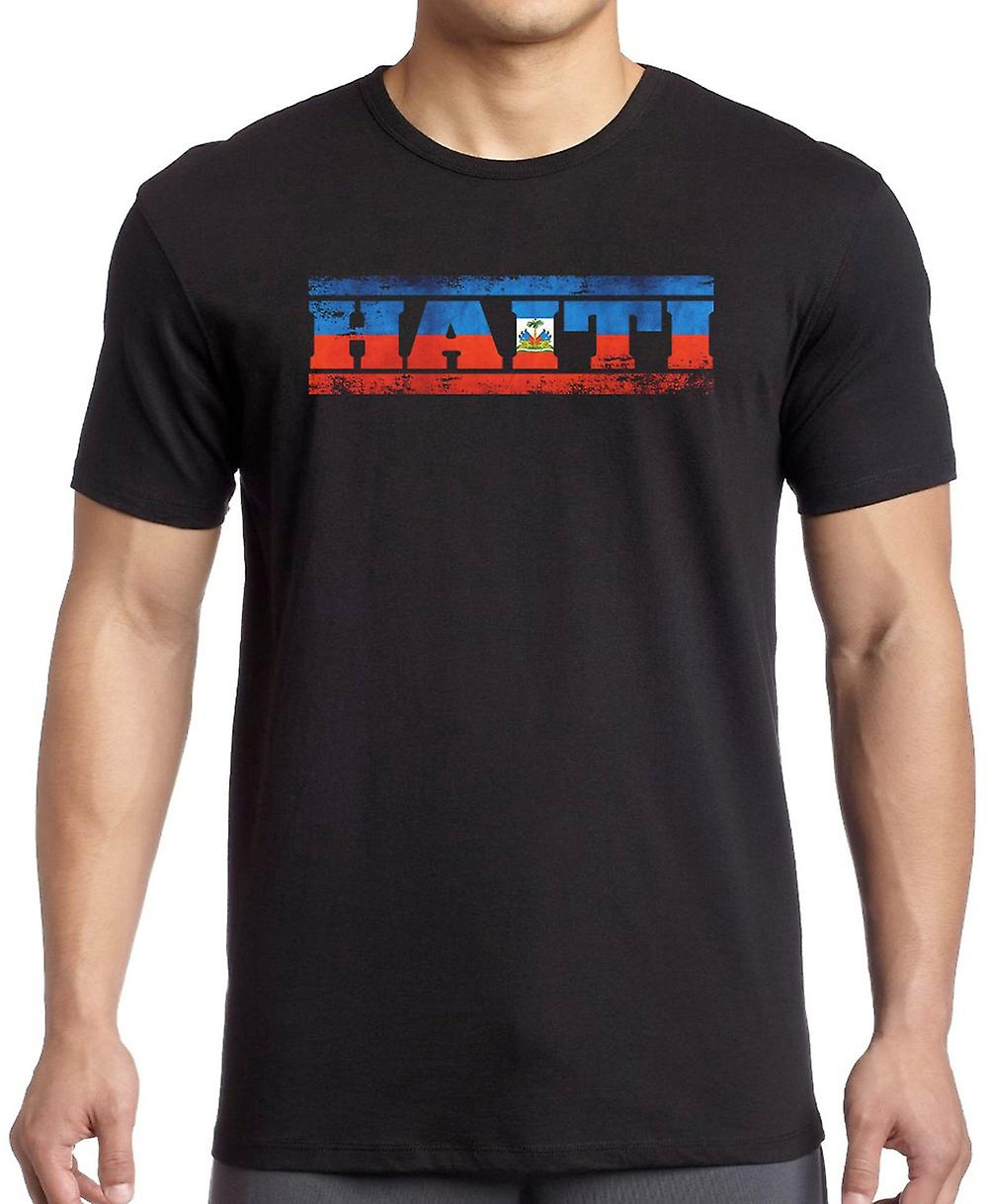 Haiti Haitian Flag - Words T Shirt