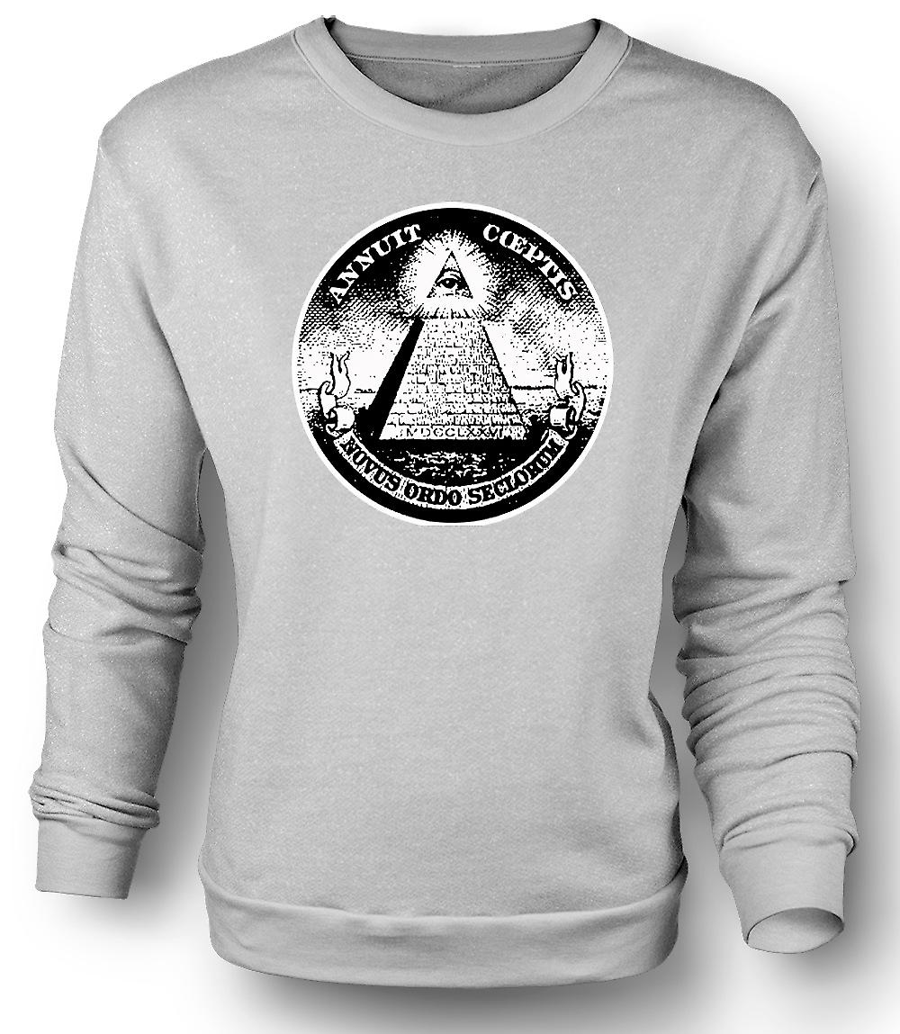 Mens Sweatshirt Illuminati - Conspiracy Dollar