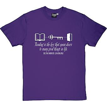 La lectura es camiseta la clave de los hombres