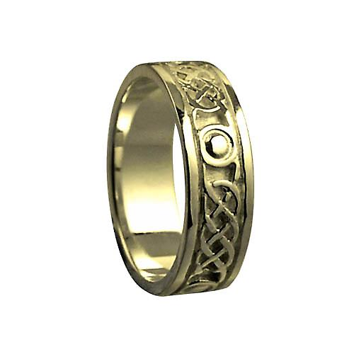 18ct Gold 6mm Celtic Wedding Ring Size Q