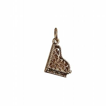 9ct Gold 15x9mm moveable Piano Pendant or Charm