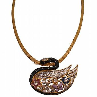 Beautiful Design Glittered Duck Pendant Necklace