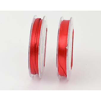 10mm Christmas Red Polyester Satin Craft Ribbon - 10m