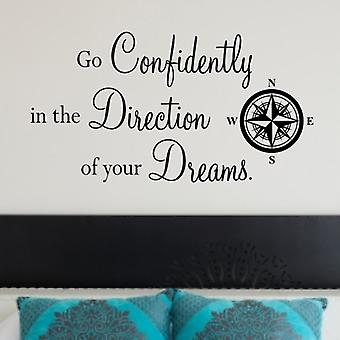 Wall Quote Sticker Direction of Dreams