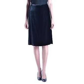Armani Collezioni svart sammet kjol