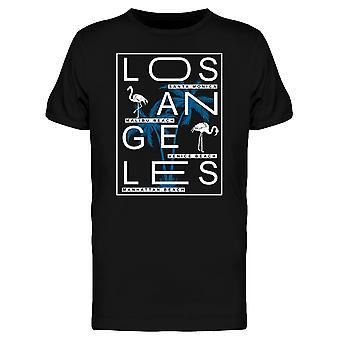 Синий Palm Лос-Анджелес графический Tee мужчин-изображений Shutterstock