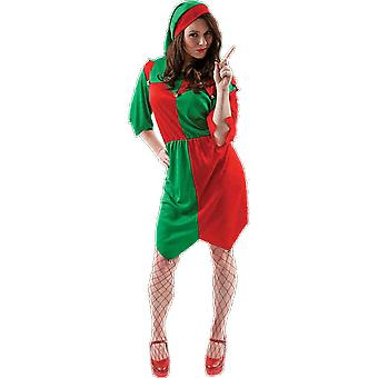 Orion Costumes Womens Santa's Little Helper Red Green Elf Christmas Fancy Dress