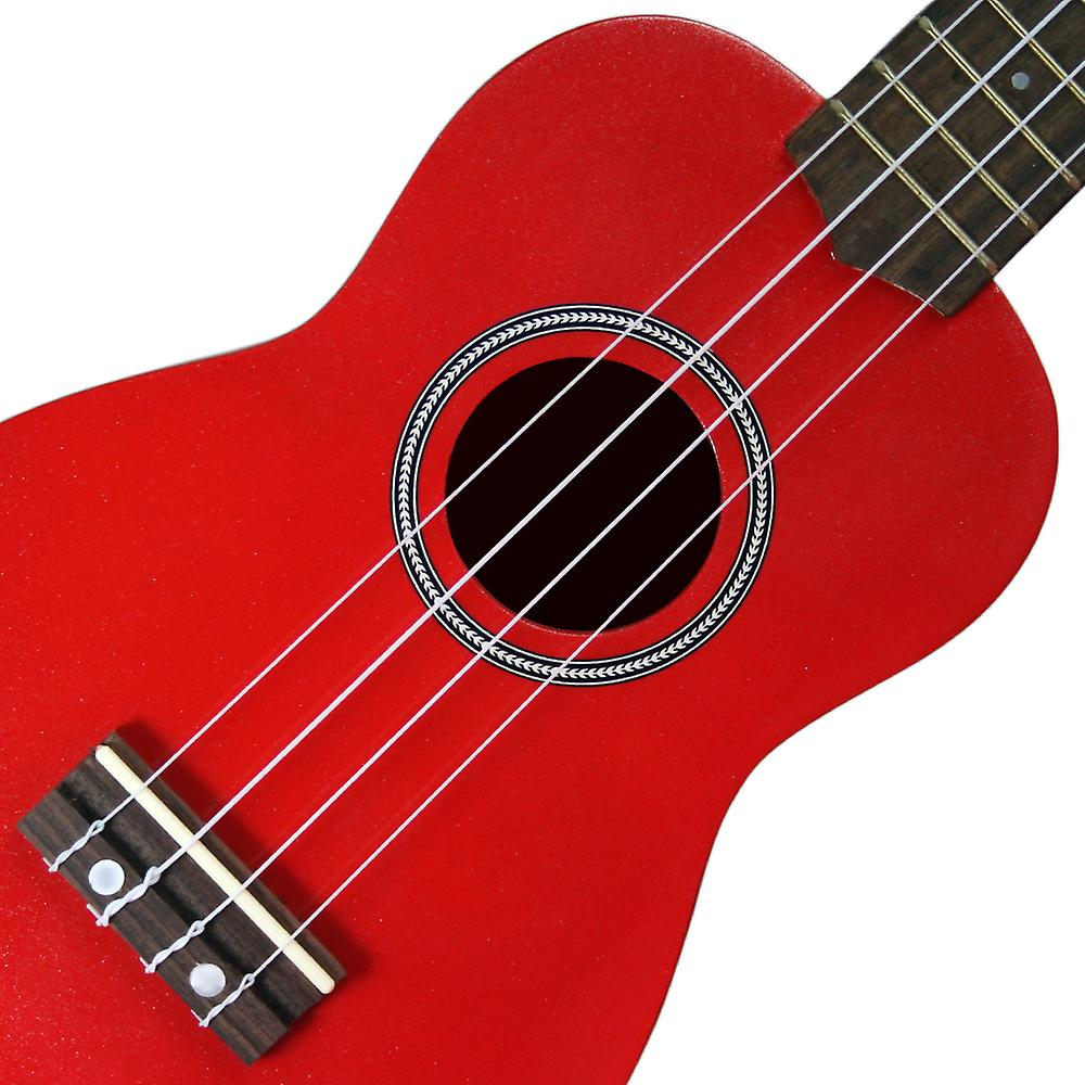 Red Soprano Ukulele - Beginners Ukulele with Bag