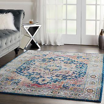 ANKARA ANR11 GLOBAL rectángulo azul Multi alfombras alfombras tradicionales