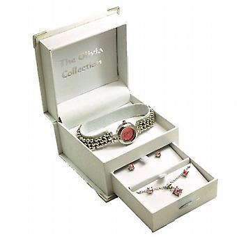 Toc Ladies Bracelet Strap Fashion Watch & Jewellery Gift Set TOC46