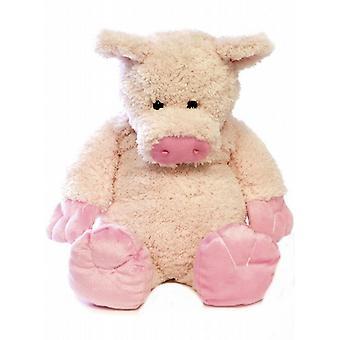 Soft Fleece Novelty 3D Cover Kids Hot Water Bottle: Pig