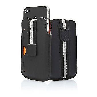حقيبة جلد سيغنيت بوسطن مع علامة تبويب سحب لآيفون 4/4S (أسود)
