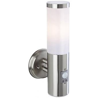 Firstlight Plaza Exterior PIR Wall Light In Stainless Steel