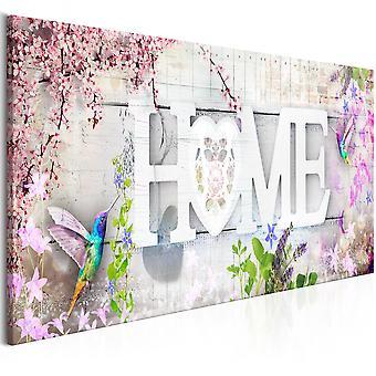 Canvas Print - Home and Hummingbirds (1 Part) Pink Narrow