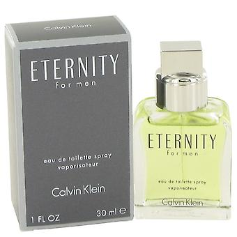 ETERNITY de Calvin Klein Eau De Toilette Spray 1 oz/30 ml (hombres)