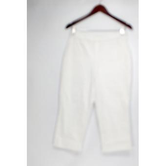 H di Halston Women's Petite Pants 4 Studio Stretch Pull-On White A286263