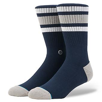 Stance Uncommon Solids Mens Socks ~ Boyd 4  navy (size L)