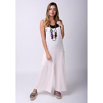 Amber Loose fit Jersey overalls pink