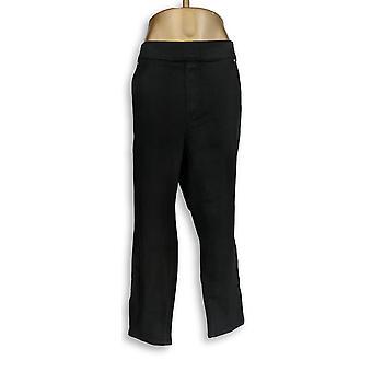 Martha Stewart Women's Petite Jeans 28WP Knit Denim Ankle Black A351437