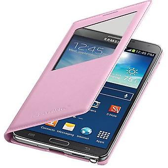 OEM Samsung Galaxy Note 3 S-View Flip Cover - Soft Pink