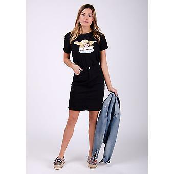 Nadine black short denim skirt