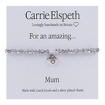 Carrie Elspeth For an Amazing Mum Heart Sentiment Stretch Bracelet