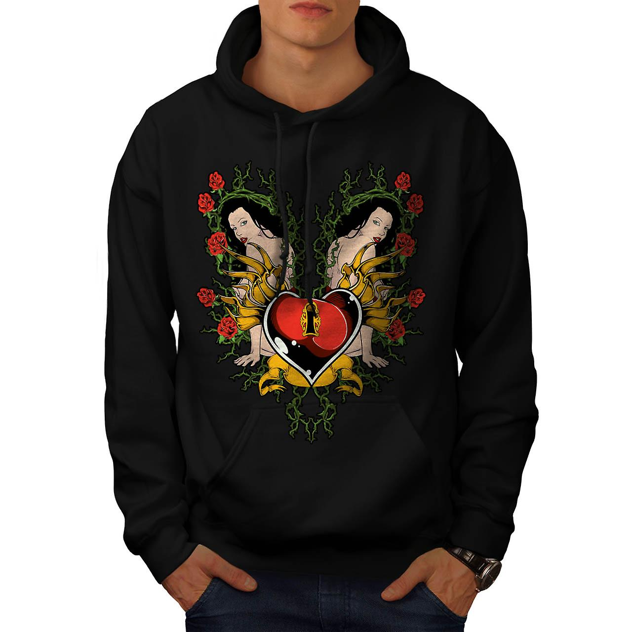 Key To My Heart Love Naked Girl Men Black Hoodie | Wellcoda