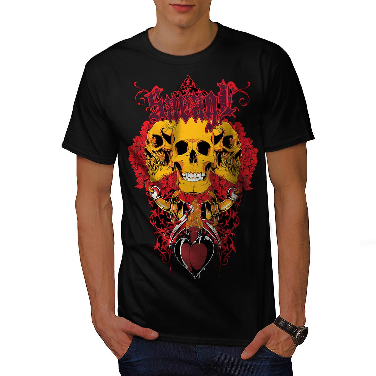 Savage Monster Death Giant Skull Men Black T-shirt | Wellcoda