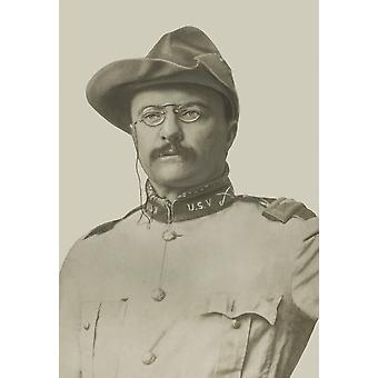 Vintage American History print of Colonel Theodore Roosevelt Poster Print