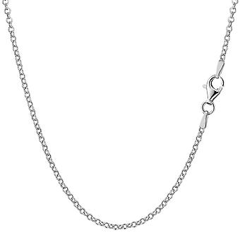 Sterling Silver Rhodium Plated Rolo Chain Necklace, 1.4mm