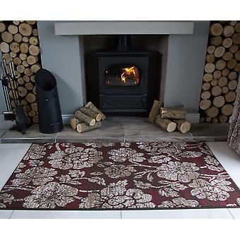 Bruine bloemen Modern tapijt Milaan