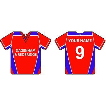 Dagenham personalizzato & Redbridge Football Shirt Car Air Freshener