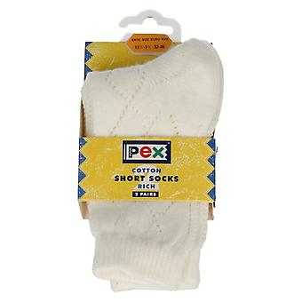 Girls PEX Patterned Cotton Rich Short Socks