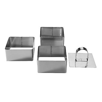 *Stainless Steel Dessert Moulds - Square