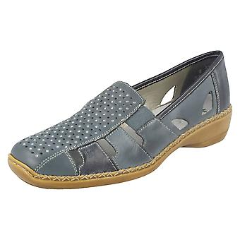 Ladies Rieker Casual Flat Shoes With Diamante Detail 41340