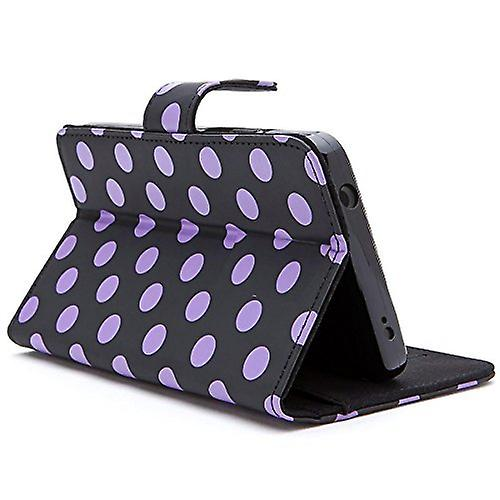 i-Blason-Amazon Fire Phone Case-Slim Leather Wallet Book Cover Dalmatian/Black