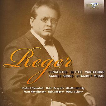 M. Reger - Reger: Concertos; Suites; Variations; Chants sacrés; Importer de la musique de chambre [CD] é.-u.