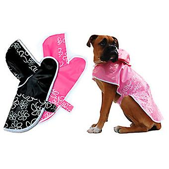 Freedog Waterproof Black Rainflower for your pet (Dogs , Dog Clothes , Raincoats)