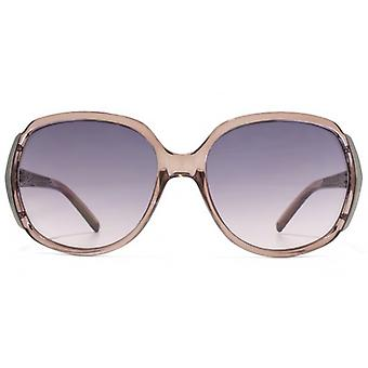 Carvela Textured Temple Detail Plastic Sunglasses In Crystal Pink