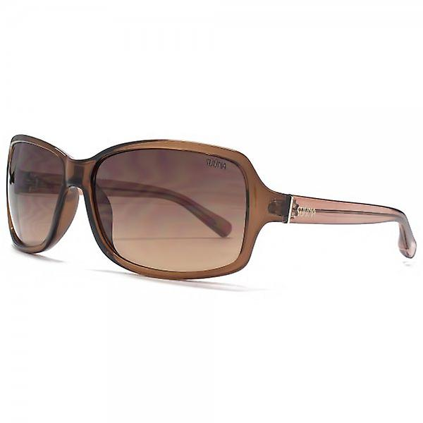 SUUNA Holly Square Wrap Sunglasses In Crystal Brown
