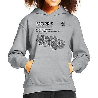 Haynes Workshop manuell 0024 Morris Minor 1000 svart gutt er hette Sweatshirt
