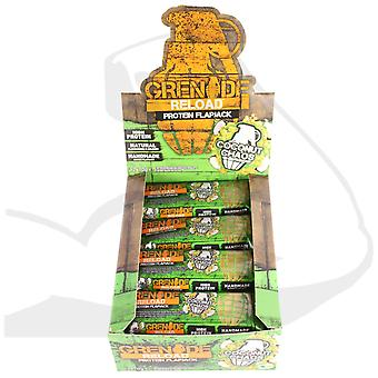 Grenade 12 X 70g Reload Coconut Chaos Protein Flapjack