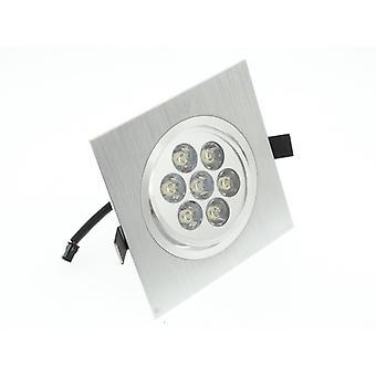 I LumoS High Quality Epistar 7 Watts Silver Square Aluminium Pure White LED Tiltable Recessed Spot Down light