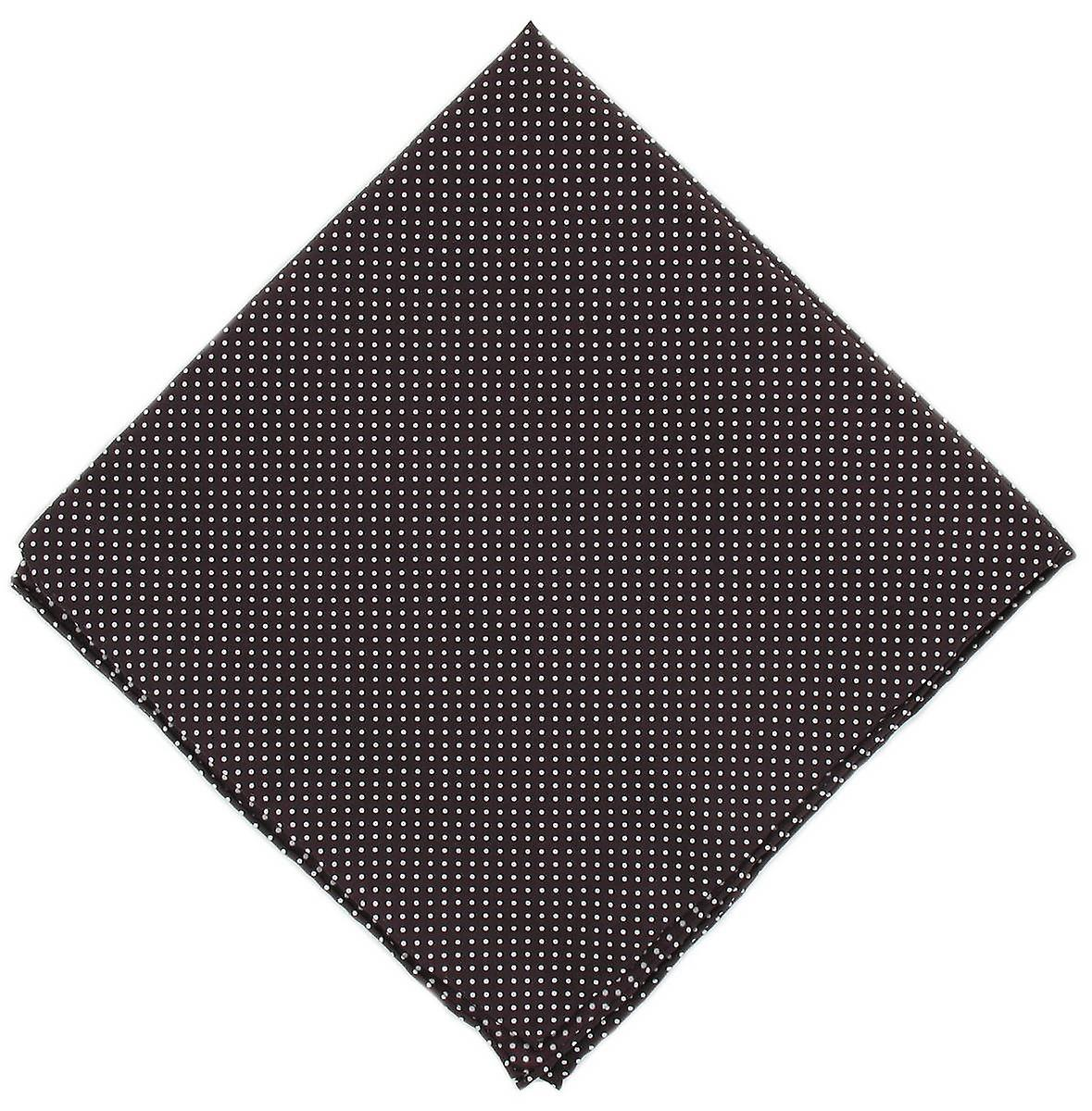 Michelsons of London Pin Dot Silk Handkerchief - Burgundy