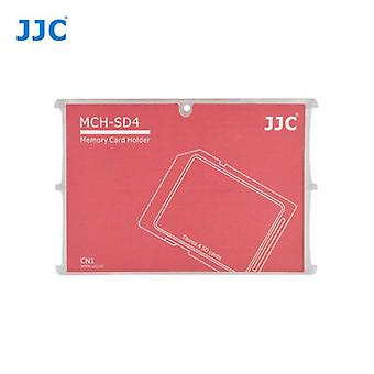 JJC Mini Memory Card Holder for 4 x SD, SDHC or SDXC Cards (Red)