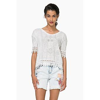 Desigual short ladies TS Santi with tip